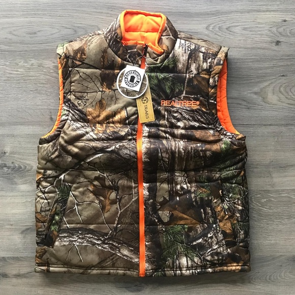 30d60cdb71c24 RealTree Hunting Vest Reversible Orange Camo. M_5b9ed6fc3c98441f27d69889